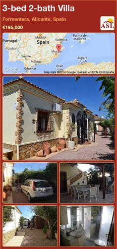 3-bed 2-bath Villa in Formentera, Alicante, Spain ►€195,000 #PropertyForSaleInSpain