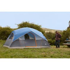 Ozark Trail 8-Person Dome Tent, Blue