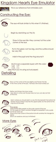 Kingdom Hearts: Eye Tutorial by darkrisingphoenix.deviantart.com