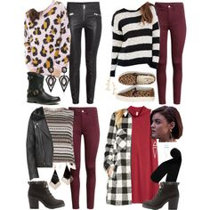 Aria Montgomery inspired winter travel outfit ideas by liarsstyle on Polyvore featuring Forever 21, H&M, River Island, Monki, American Eagle Outfitters, Soda, Nature Breeze, Nadri, New Look and school