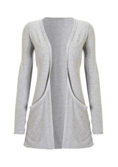 Women's Plus Size Pocket Long Sleeve Cardigan