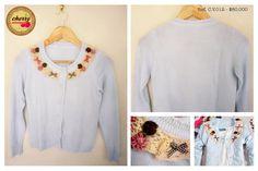 Sueter Azul Claro con Moños  Ref. C.V.012 // $ 80.000  Talla: S