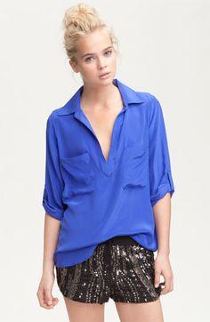 Slouchy Silk Shirt