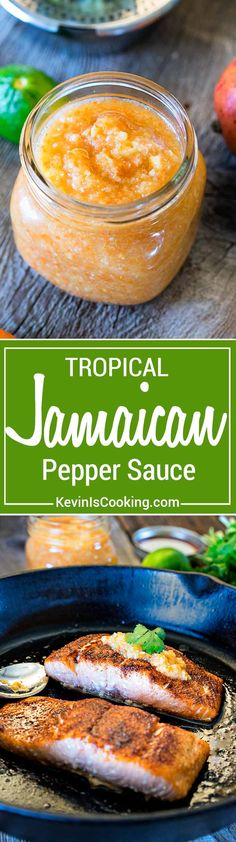 ThisJamaican Pepper Sauce brings the heat with habaneros, mango, pineapple and cumin, but the secret flavor weapon ingredient I like to add is a carrot. via @keviniscooking