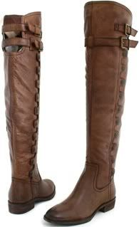 SAM EDELMAN PIERCE Over the Knee Thigh-high Boots Women Sz Whiskey Brown Riding