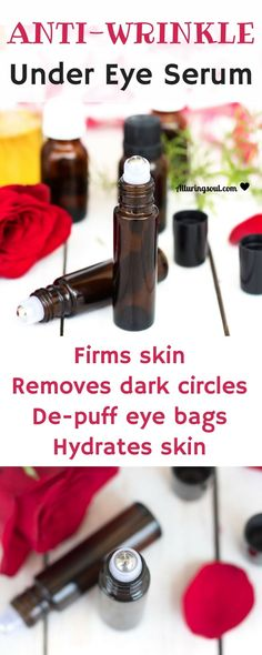 anti-wrinkle under eye serum will help to remove fine lines and wrinkle, removes dark circles, eye puffiness and firms skin. Check out for recipe. care dark circles care logo care skin care tips care vision Creme Anti Age, Anti Aging Cream, Anti Aging Skin Care, Prévenir Les Rides, Skin Care Routine For 20s, Skin Routine, Skincare Routine, Anti Ride, Facial