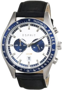 Esprit For Men Analog,Casual Watch Casual Watches, Watches For Men, Egypt Culture, Egypt Fashion, 100m, Leather Case, Backpacking, Latest Fashion, Quartz
