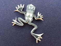 Items similar to TREE FROG Money Origami Dollar Bill Treefrog Animal Reptile Cash Sculptors Bank Note on Etsy Origami Tree, Origami Dragon, Origami Fish, Money Origami, Origami Stars, Origami Paper, Origami Ball, Origami Flowers, Origami Tooth