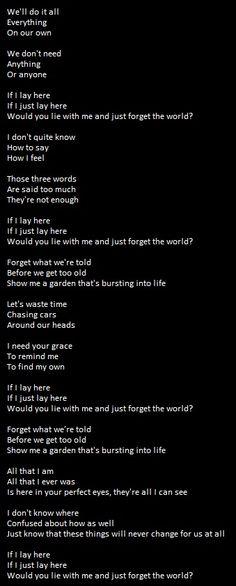 Snow Patrol Chasing Cars Lyrics