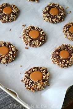Turtle Cookies. They're perfectly soft and chewy and crunchy and chocolatey and nutty and caramelly all at the same time.