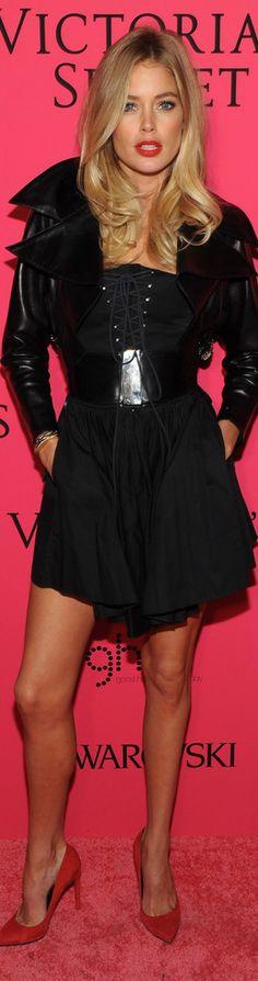 Doutzen Kroes in 2013 Victoria's Secret Fashion After Party - Pink Carpet…