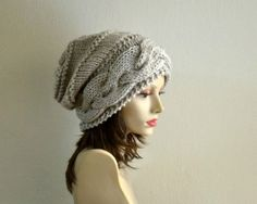 Hand Knit Hat  Expedited Shipping   Slouchy Women Hat  by Puik, $38.00