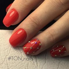 Nail art Christmas - the festive spirit on the nails. Over 70 creative ideas and tutorials - My Nails Red Nail Designs, Pedicure Designs, Beautiful Nail Designs, Holiday Nails, Christmas Nails, Prom Nails, My Nails, Red Nail Art, Red Art