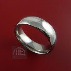 Platinum and Titanium Wedding Ring Custom by StonebrookJewelry, $364.92