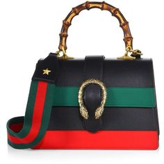 Gucci Dionysus Small Leather Top-Handle Bag ($2,980) ❤ liked on Polyvore featuring bags, handbags, shoulder bags, apparel & accessories, real leather shoulder bags, gucci handbags, pocket purse, genuine leather purse and top handle handbags