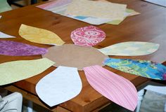 the blueberry monkey: monkey how-to's: scrapbook paper wall flowers