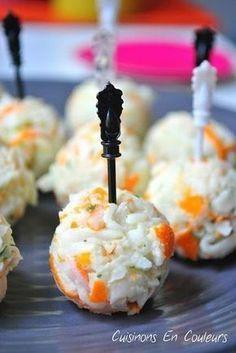 Boulettes apéritives au surimi Une super recette pour un apéro rapide ! #recette #apéritif #surimi #boulette