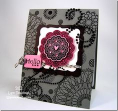 Waltzing mouse doily stamps