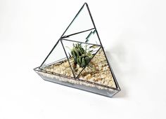 Beveled Stained Glass Pyramid Planter. $250.00, via Etsy.
