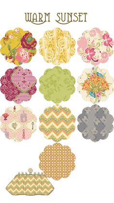 Warmsunset prints from Lilly Belle by Bari J. for @Art Gallery Fabrics