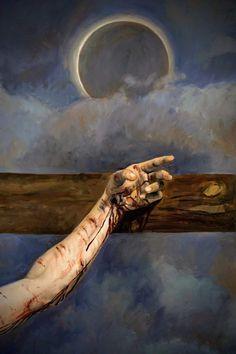 Jesus Our Savior, Jesus Is Life, Jesus Christ Painting, Jesus Art, Christian Paintings, Christian Art, Catholic Art, Religious Art, Crucifixion Of Jesus