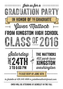 Diy graduation invitation party ideas pinterest graduation mixbook letterpress grad graduation invitations filmwisefo