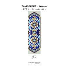 He encontrado este interesante anuncio de Etsy en https://www.etsy.com/es/listing/240130326/peyote-pattern-beadwork-blue-aztec