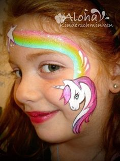 Face painting motifs for your kids party! … Face painting motifs for your kids party! Mermaid Face Paint, Face Painting Unicorn, Unicorn Face, Body Painting, Unicorn Birthday Parties, Unicorn Party, Unicorn Makeup, Bodysuit Tattoos, Too Faced