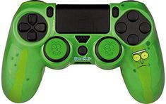 FR-TEC - Rick and Morty Pickle Rick Combo Pack para mando Dualshock Ps4 Review, Rick Y Morty, Pickles, Video Games, Decal, Sticker, Packing, Decorating, Lighting