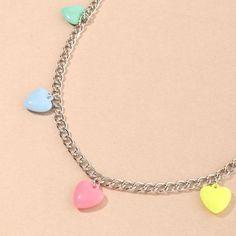 Pastel Punk Hearts Hip Chain