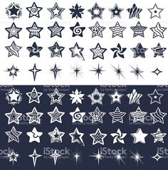Set of stars royalty-free stock vector art