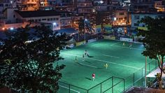 Brazil soccer field harnesses player power: Soccer players in Rio de Janeiro harness kinetic energy that powers nighttime lighting of the field. About 200 energy-capturing tiles are covered by a layer of AstroTurf that works with solar panels for player-powered floodlights.