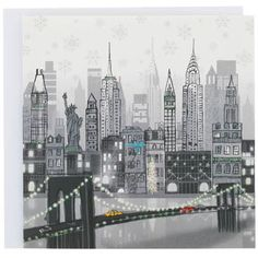 New York city Christmas card at Paperchase