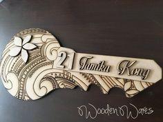 Kiwi Birthday Key using a Maori Tattoo as the Background. MDF Craft Wood Laser Cut New Zealand 21st Birthday Wishes, Special Birthday Cakes, Birthday Diy, Moana Birthday, Key Diy, Maori Art, Key Photo, Birthday Invitation Templates, Bone Carving