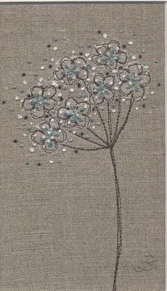 Jo Butcher, Embroidery Artist - Cow Parsley