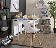 do you  live in an small apartment but like to host dinner parties? The SNEKKERSTEN Gate-Leg Table is the perfect solutions as it is space saving table that expands.