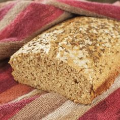 Dukan bread from Czech recipe.  Has bran instead of flour.  Also uses eggs and yeast.
