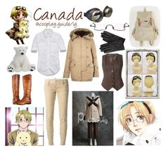 """Aph Canada hetalia cosplay outfit"" by consultingpolyvorer ❤ liked on Polyvore featuring Frye, Abercrombie & Fitch, Denim & Supply by Ralph Lauren, Dolce&Gabbana and Dsquared2"