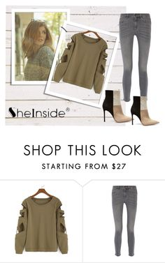 """shein contest"" by editaolovkic-1 ❤ liked on Polyvore featuring MiH Jeans and Gianvito Rossi"