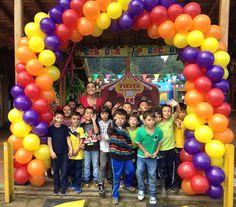Diversión, alegría y múltiples sonrisas durante la celebración del Día de los niños.