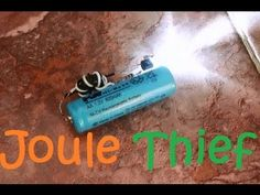 """I want go to show you how to make a """"Joule Thief"""" the LED's need 3 Volt for light ( 2 Battery ). but the """"Joule Thief"""" can made LED's very bright light wit. Joule Thief, Home Safety, Joules, Electronics Projects, Diy Kits, Retro, Science And Technology, Physics, Adventure"""