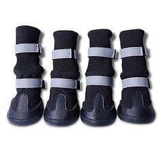 Oferta: 11.99€. Comprar Ofertas de PIXNOR 4 Piezas Impermeable Botas Botines Zapatos de Perro -Tamaño S (Negro) barato. ¡Mira las ofertas!