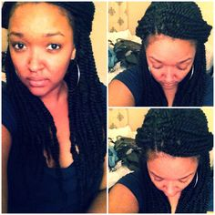My take on crochet Marley braids. I love the long twists BUT when you do Marley twists individually, you really have your way with how full you want your hair to be unlike with the crochet method. The hair is very light but it's too much. I took out a few pieces but only could take out so many before my braids started to show.  Not sure how long I'll leave this in but I did use 6pks which cost 2 for $10 so I'd like to get my money's worth. I say three weeks.  .