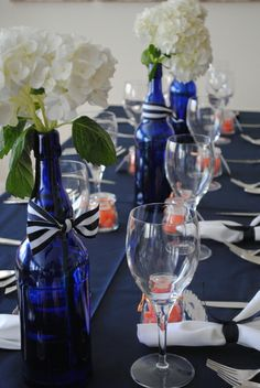 "Photo 5 of 17: Sailboat: Navy, White and Orange / Baby Shower/Sip & See ""Baby Shower"" 
