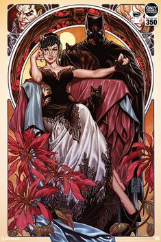 'Batman & Catwoman' by Mark Brooks, originally variant cover art for 'Batman' issue published July 2018 by DC Comics, now a new officially licensed print release through Sideshow Collectibles. Catwoman Cosplay, Batman Et Catwoman, Cosplay Gatúbela, Joker, Batman Love, Batman Art, Superman, Harley Quinn, Comic Book Covers