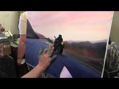 Artist Igor Sakharov. Painting the <strong>москва мастер класс ютуб</strong> motorcycle and rider - YouTube