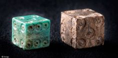 Two medieval dice uncovered in the layers of the construction site of the Cathedral of Strasbourg