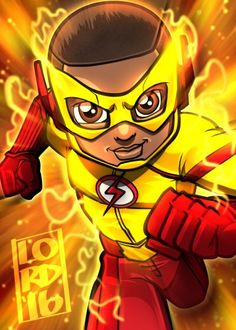Fan art of 'Kid ⚡️⚡️ Flash.' Getting so excited for season Kid Flash, Flash Art, Lord Mesa Art, Chibi Marvel, Marvel Dc, Flash Drawing, Flash Characters, Flash Tv Series, The Flash Season