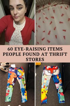 Here are 60 eye-raising sights found at thrift stores and tag sales:
