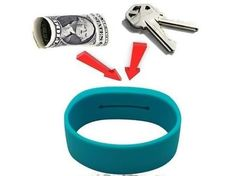 PocketBands Store Your Keys And Cash  ... see more at InventorSpot.com
